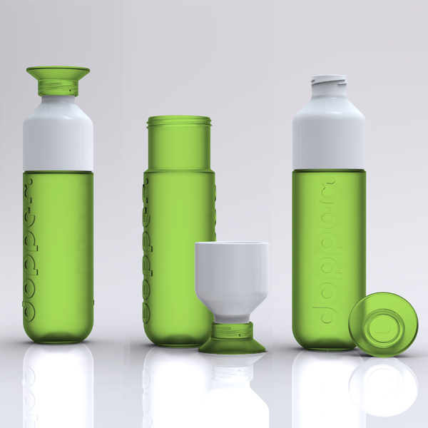 3 options green Dutch Designed Water Bottles Make Drinking Water Easy & Support Water Projects