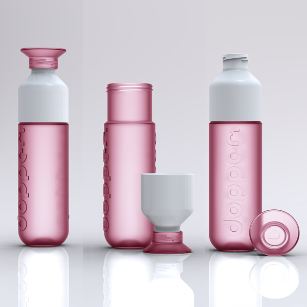 3 options pink Dutch Designed Water Bottles Make Drinking Water Easy & Support Water Projects