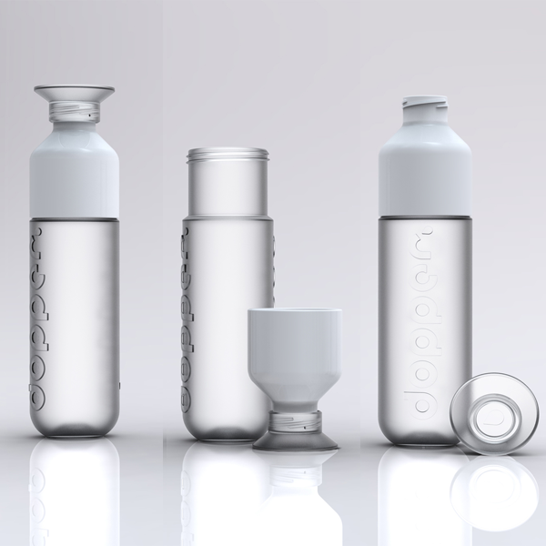 3 options white Dutch Designed Water Bottles Make Drinking Water Easy & Support Water Projects