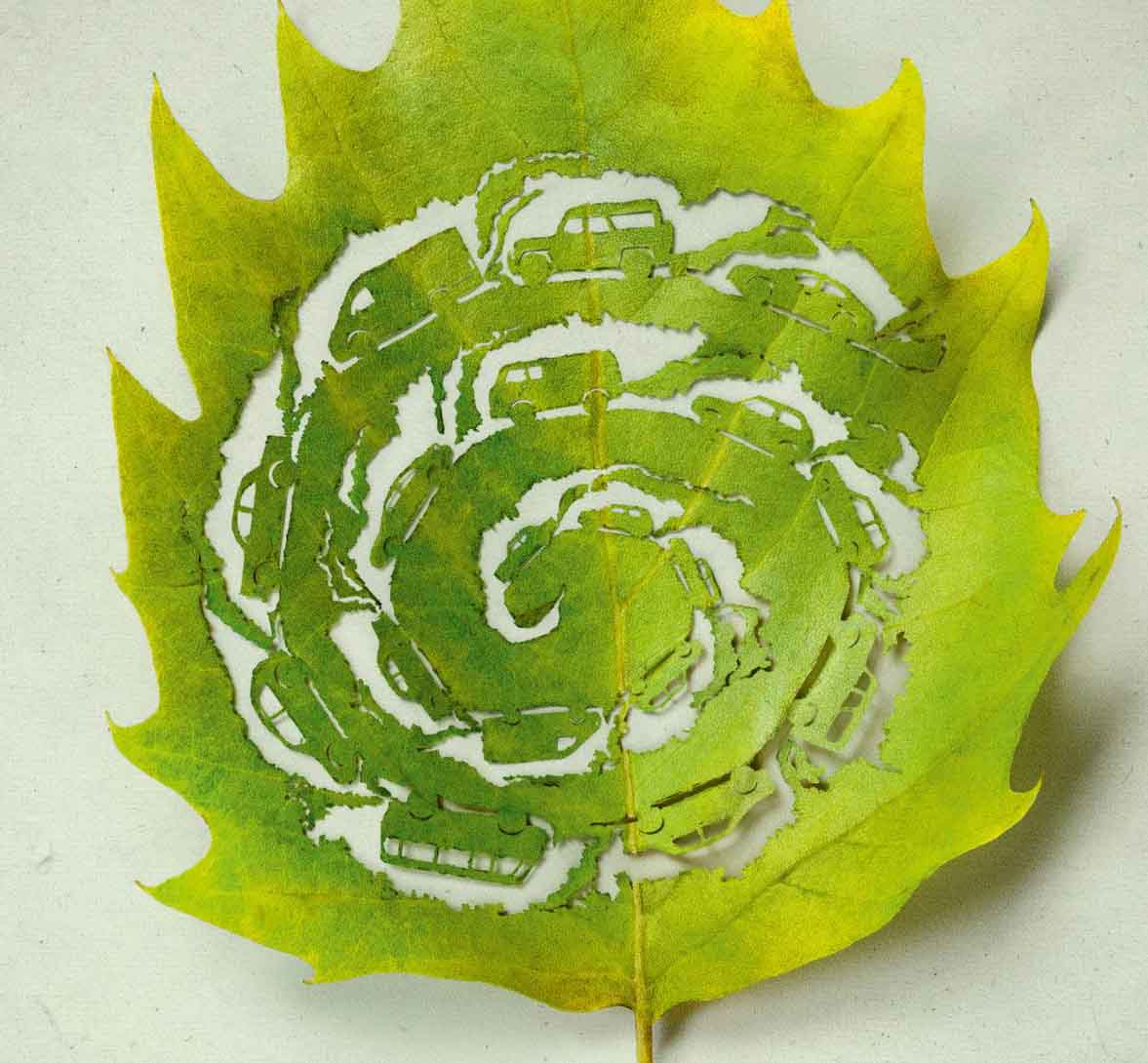 Amazing Leaf Carving Art Photography 7 Amazing Leaf Carving Art