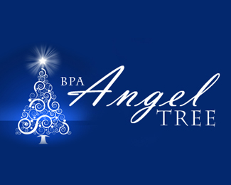 Angel Tree Beautiful Christmas Logo Design