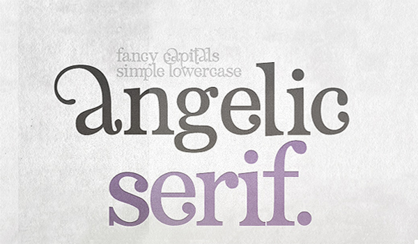 Angelic Serif 12 Fresh Free Fonts for your Designs