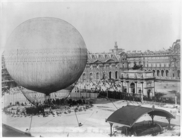 Captive Balloon of Henri Giffard Over Paris 1878 2 Captive Balloon of Henri Giffard Over Paris, 1878