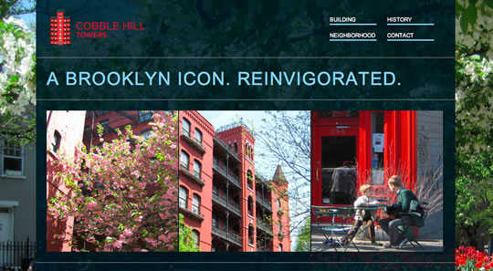 Cobble Hill Towers Colorful Web Designs