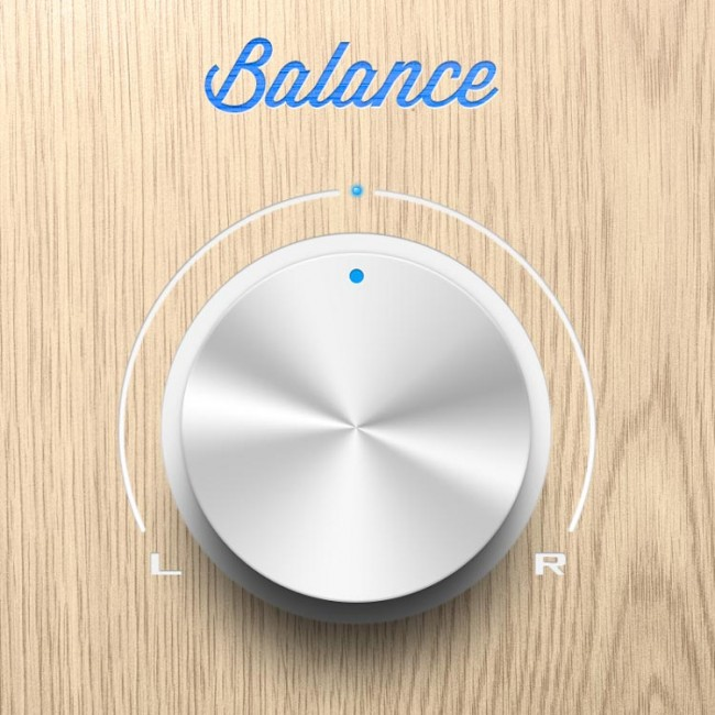 DYT Bouton chrome 1 650x650 Freebies   A balance chrome knob PSD