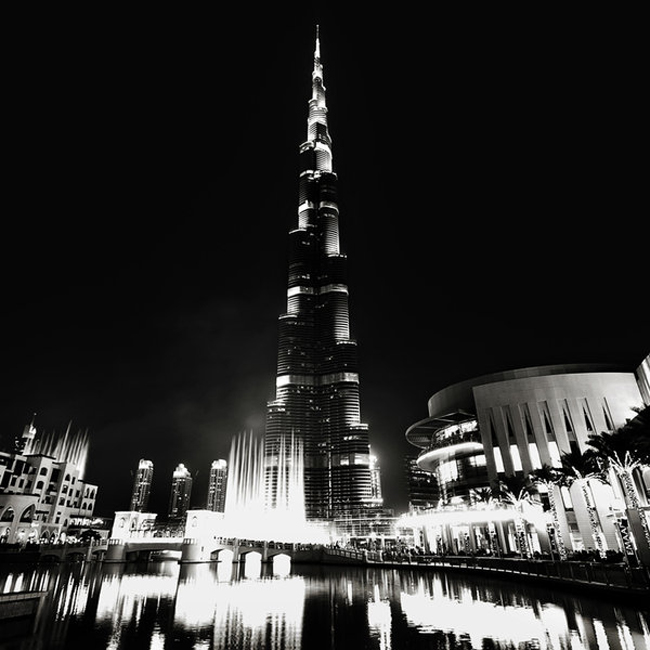 "Dubai City of Lights 191 Black & White And Colored Photography Of Dubai ""The City Of Lights"""