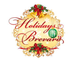 Holidays in Brevard Beautiful Christmas Logo Design