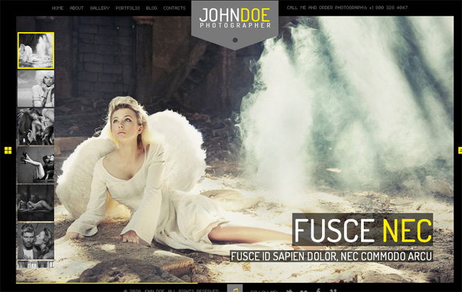 John Doe 35+ Free and Premium Photography WordPress Themes