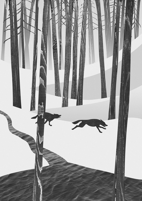 Martynas Pavilonis Martwood Wolves Art Print by Martynas Pavilonis