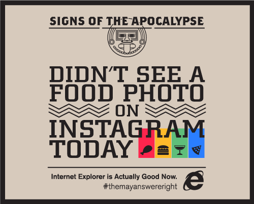 MicrosoftApocalypse instagram neu Signs of the Apocalypse: Didnt See a Food Photo on Instagram Today
