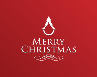 Ocular Ink Christmas Beautiful Christmas Logo Design