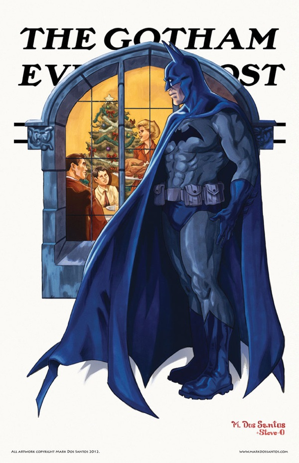 Rockwells Gotham City Batman Christmas Rockwell's Gotham City