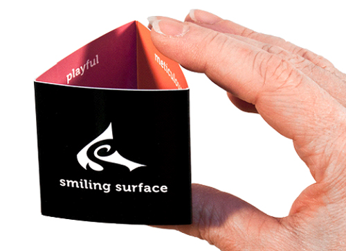 Smiling Surface Folded Business Cards