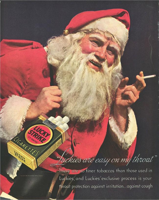 Cigarette Ads 2012 Santa claus cigarette ads