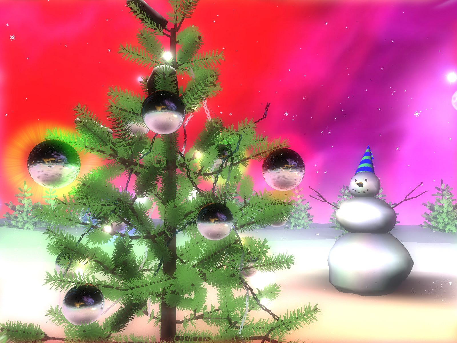 christmas wallpaper tree snowman Cool And Beautiful Christmas Photos