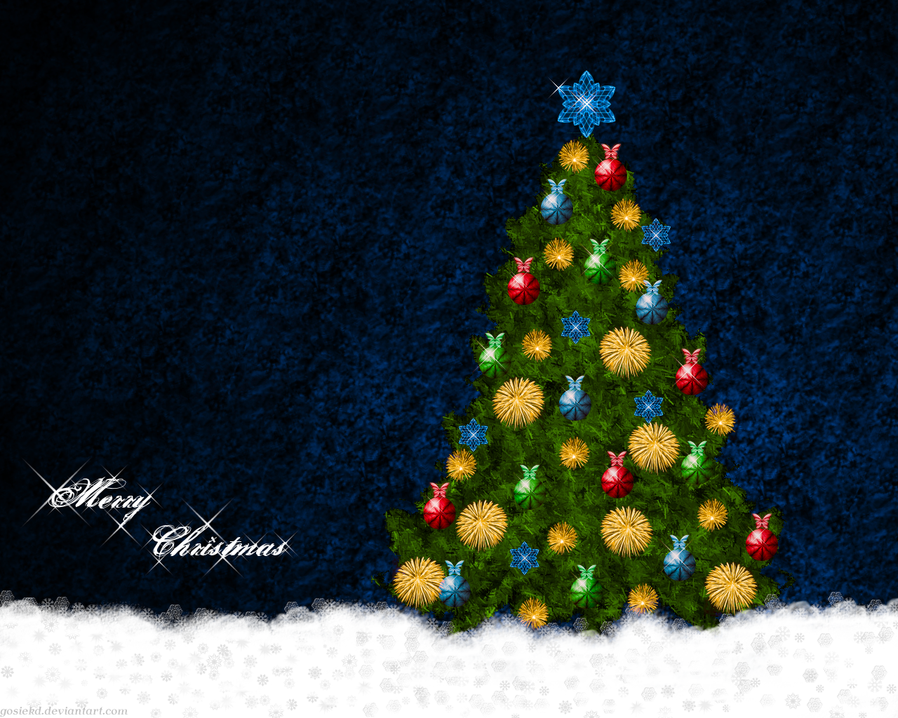 christmas tree wallpaper by gosiekd d16u2pe Cool And Beautiful Christmas Photos