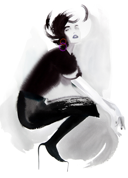 f 25 Awesome Fashion Illustrations by Cacilia Carlstedt