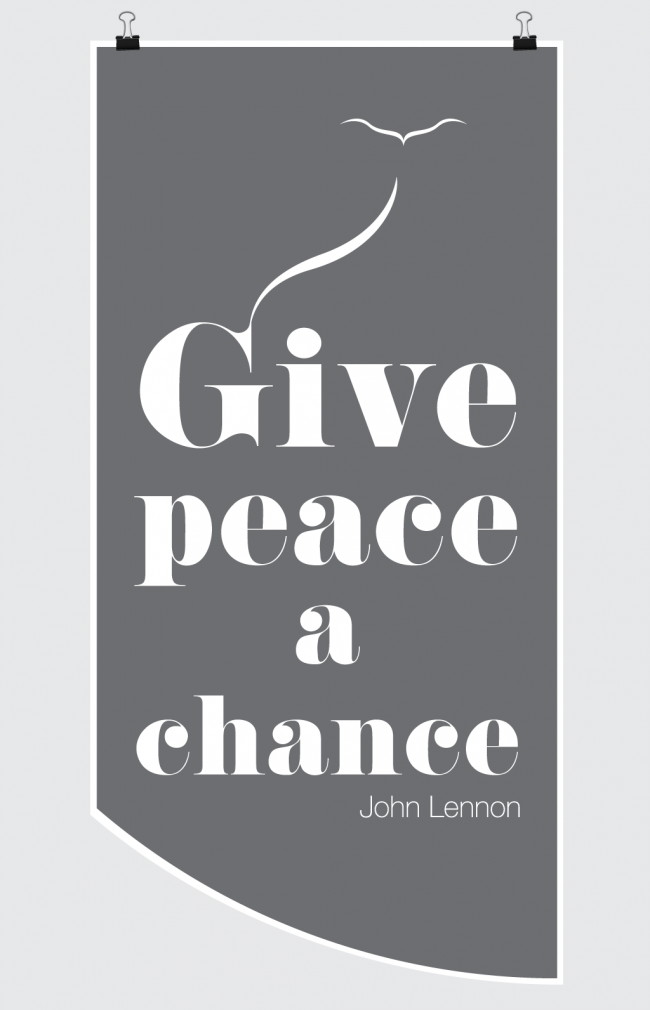 give peace a chance john lennon 650x1010 Poster   Give peace a chance   John Lennon