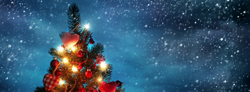 red beautiful christmastree fb timeline cover Amazing Collection Of Facebook Covers