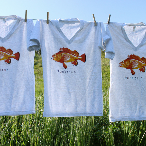 rockfish t shirts Salmon Sisters Eco Friendly Apparel Makes Splash at Designed Good