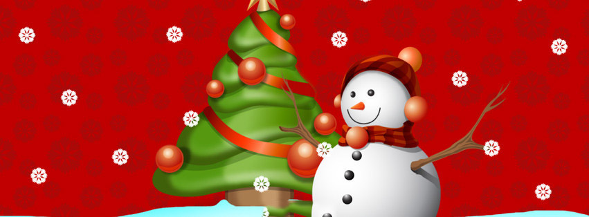 snow man fb timeline cover1 Christmas Special Facebook Covers