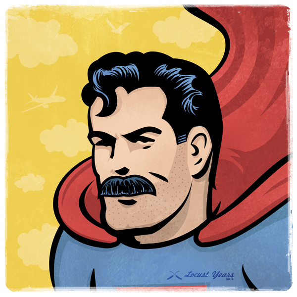 superhero mustaches by wes montgomery 02 Superstaches