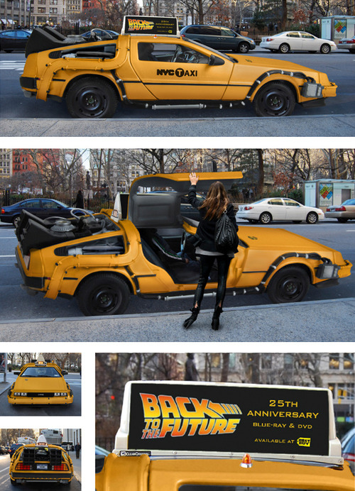 tumblr mefeeepmO31qiqf01o1 500 DeLorean NYC Taxi