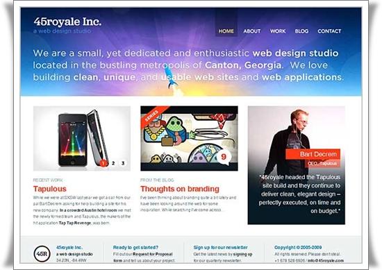 45royale Best Website Designs