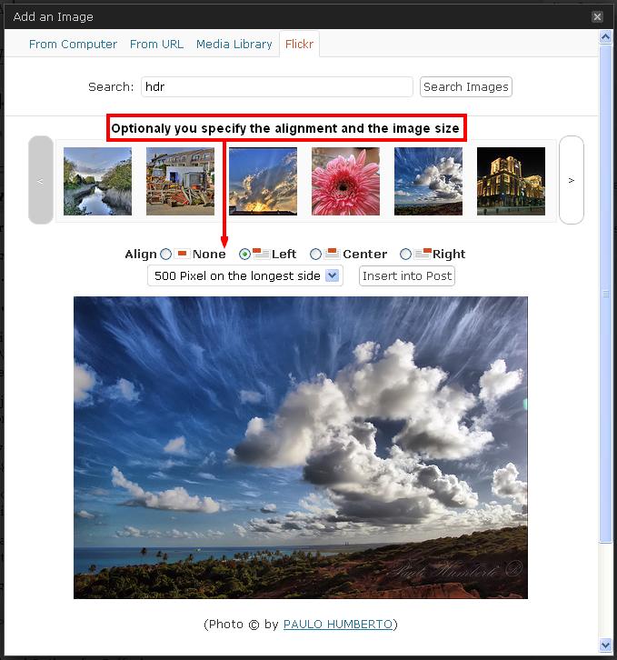 Flicker Photo Post WordPress Useful jQuery Plugins