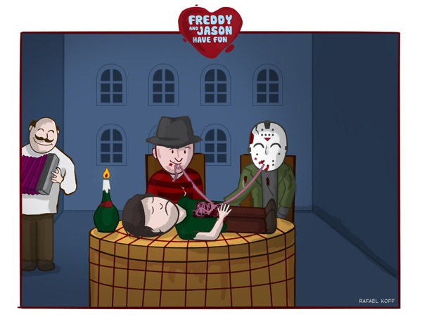 Horror Love Freddy Jason Spaghetti Horror Love