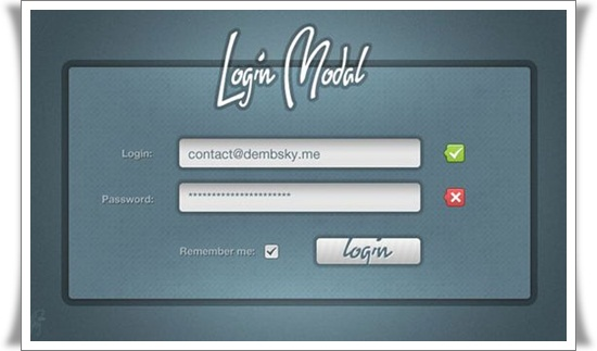 Login Modal Window Attractive PSD Login Design