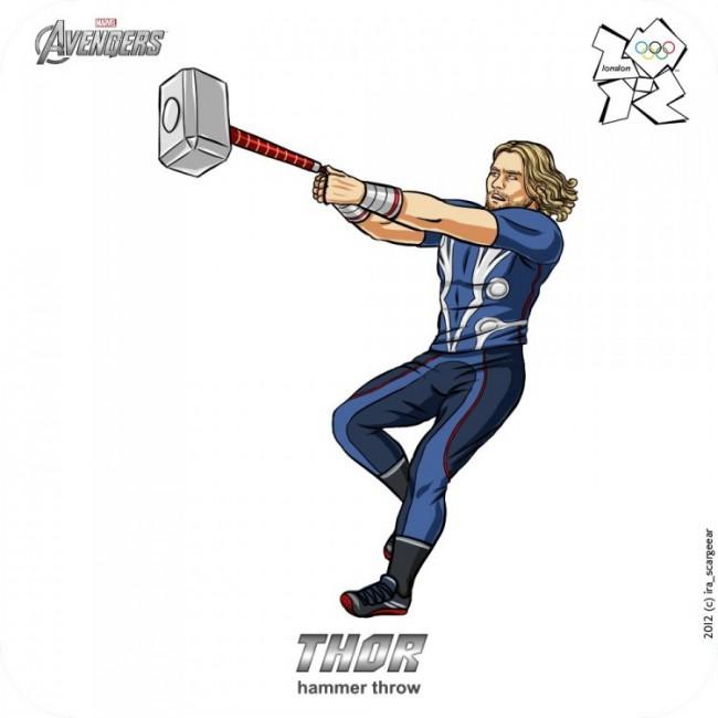 Olympic Avengers Thor 750x750 650x650 Olympic Avengers