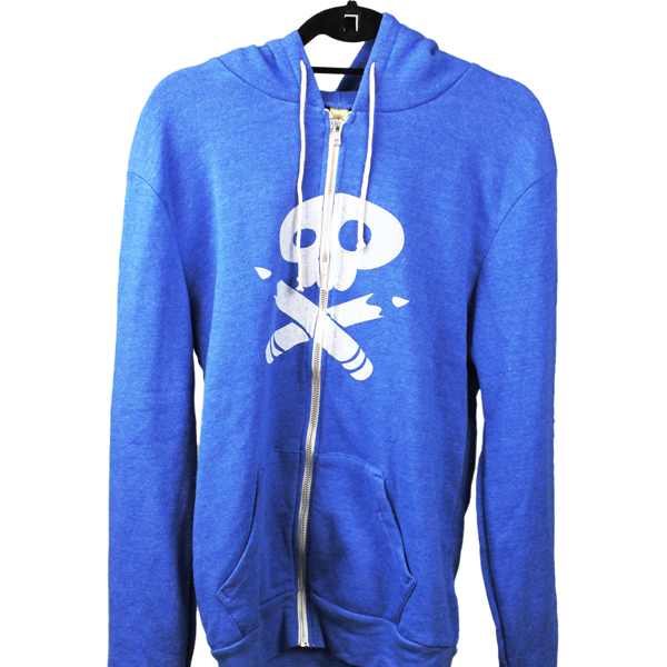SP blue hoodie Vanity Project Clothing on Designed Good Donates 51% to Causes