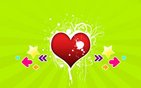 Splash My Heart Wallpaper Photoshop Tutorials For Valentines Day