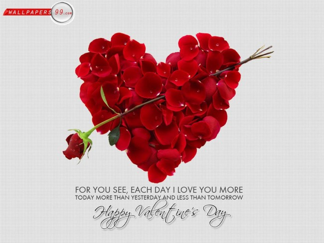 Valentine Day Wallpapers 29 650x487 40 Loving And Heart Shaped Wallpapers On Valentine Day 2013