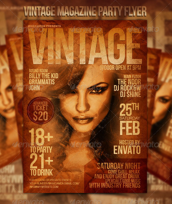 Vinage Magazine Preview A Unique Collection of Smart Flyer Templates