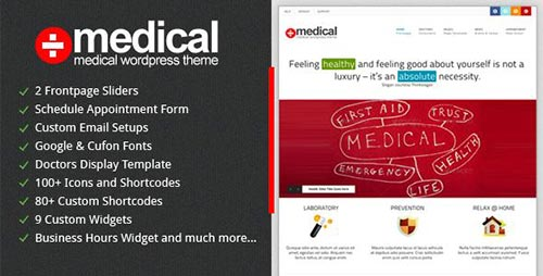 dzinewatch.com medical theme 1 Medical and Health WordPress Theme