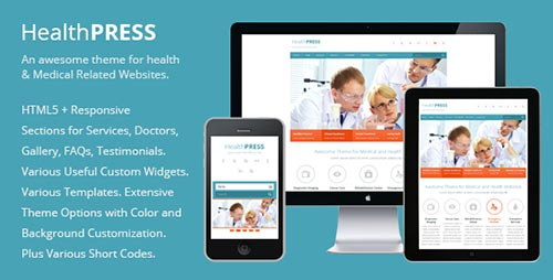 dzinewatch.com medical theme 3 Medical and Health WordPress Theme