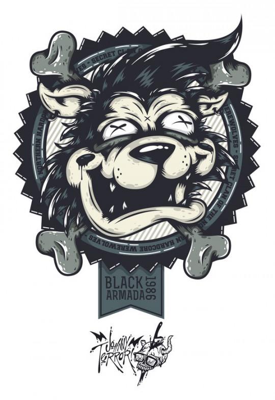 i 3 Cool Digital Illustrations by Johnny Terror