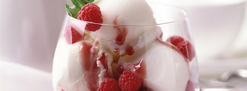 ice cream with berries fb timeline cover Yummy Ice Cream Covers