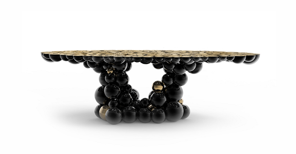 newton black gold dining table large size 01 1 Maison et Objet 2013: 10 Best Exhibitors
