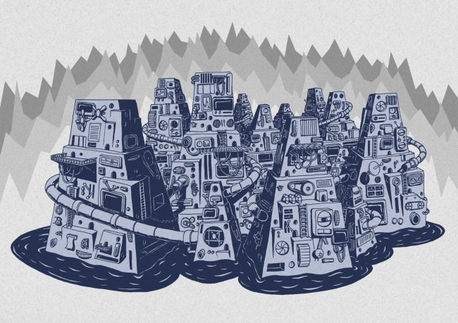 thierry birkenstock illustration drawing digital big city1 650x459 Thierry Birkenstock – Illustration / Handmade Prints