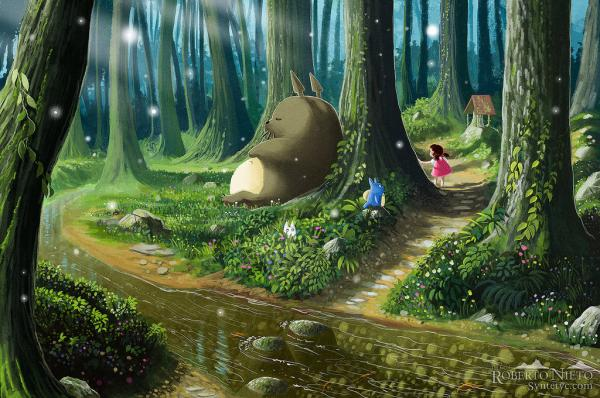 totoro and mei by syntetyc600 398 Children's Illustrations by Roberto Nieto