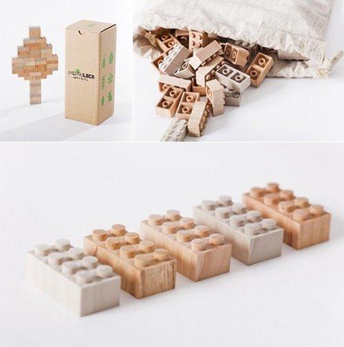 tumblr mglarczfap1qiqf01o1 500 Mokurokku Wooden Lego Blocks