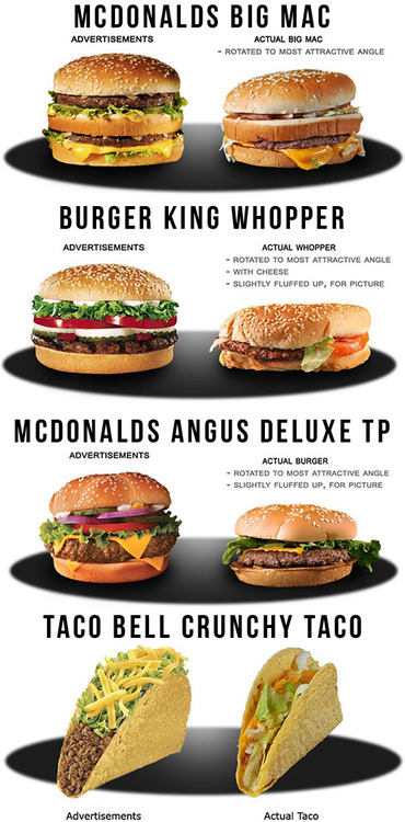 tumblr mh5embFDVJ1qiqf01o1 500 Fast food advertising vs. reality