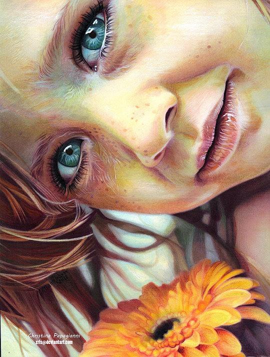 001 realistic portraits christina papagianni Realistic Paintings by Christina Papagianni