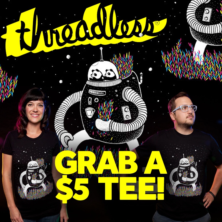 Tell us why you love Threadless tees and we'll give you one for $5!