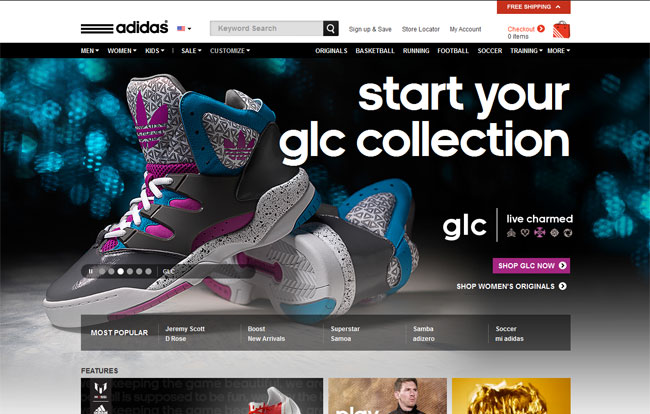 Adidas 20 Super Hit Sports Website Designs
