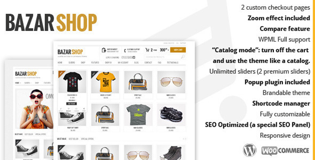 Bazar Shop Multi Purpose e Commerce Theme 15 Latest E Commerce Responsive WordPress Themes