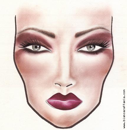 Bianca Raffaela makeup concept 08 Makeup Concepts   Face Charts Nr. 8 and 9